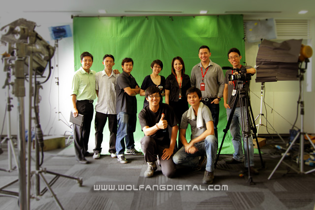 Successful green screen shoot and interview session at Guiness Anchor Berhad for Accenture Malaysia.