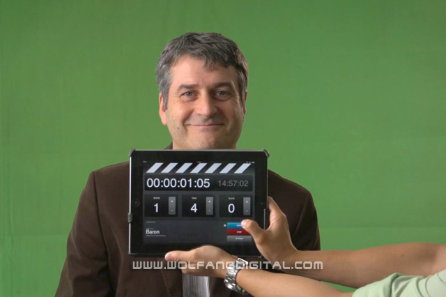 Charles Ireland, Managing Director, Guiness Anchor Berhad. Our Ipad2 was used as clapperboard.
