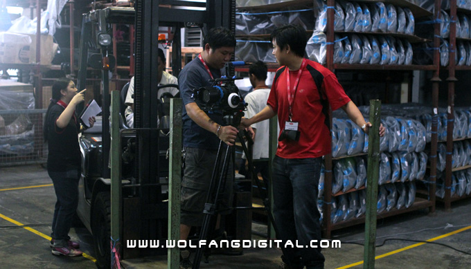 Being assigned your standard issue forklift & operator for cinematography is always a good thing