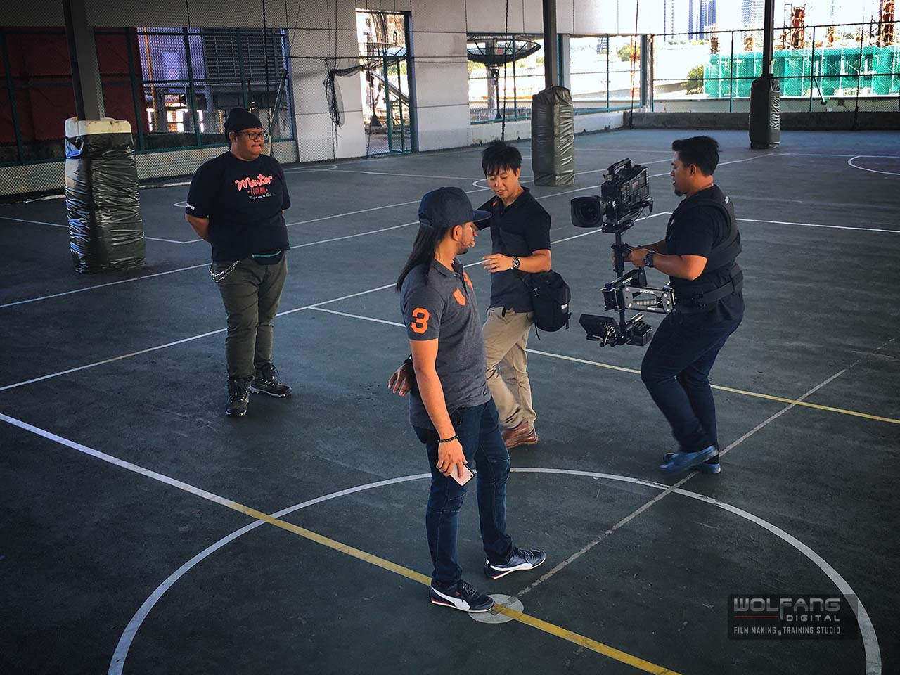 Hands on training and as your trainer personally helps you improve your Steadicam skills