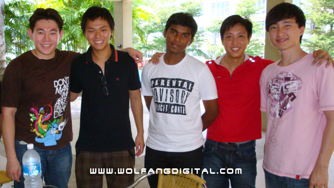 From left: Baba Sandiko (Jakarta Indonesia), Adrian Yap & Kumuthan (Saito College), Baron and Mike (Perak, Malaysia)