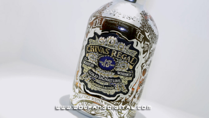 The bottle that started all this: Chivas Regal 18 Year Old by Christian Lacroix. Price: $495