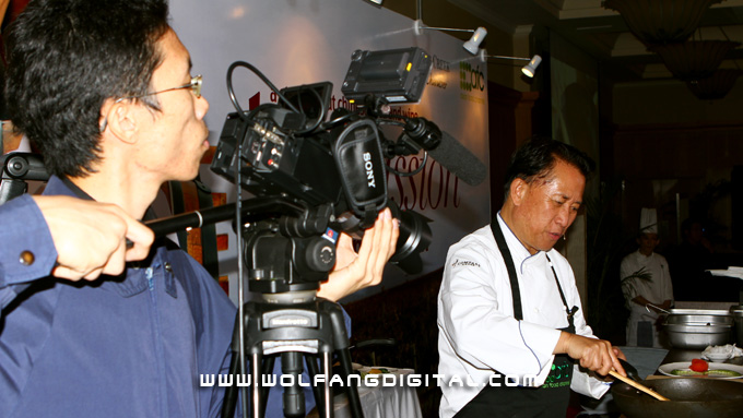 Our videographer armed with a Z96 and covering celebrity chef, Martin Yan at an event by Australian wine Jacob's Creek.