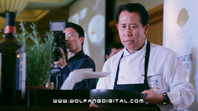 Master Chef Martin Yan- lighting quick in the kitchen, with a sharp wit and tremendously entertaining.