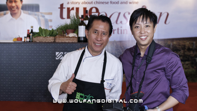 Baron with Chef Martin Yan. The cinematographer with his favourite chef. Photo courtesy of William Loh Photography
