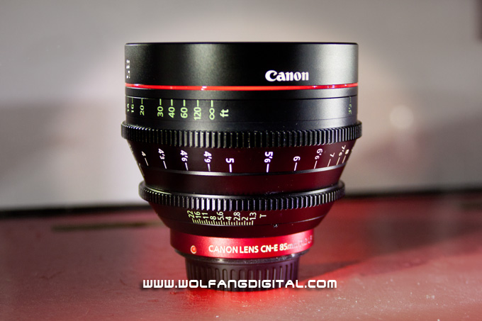 A really fast lens from the Cinema EOS range: CN-E85mm T1.3 L F (EF Mount).