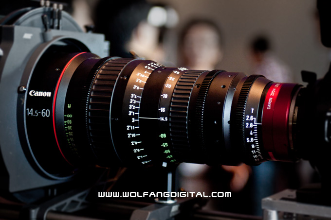 CN-E14.5-60mm T2.6 L S. This lens weights in at 4.5 Kgs and has a diameter of 136mm