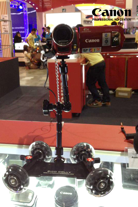 Pico Dolly gives you smooth tracking shots but depends on a flat surface.