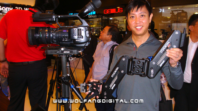 Sony's open house. On display included the Sony EX1 and Steadicam Zephyr. Awesome gear were everywhere!