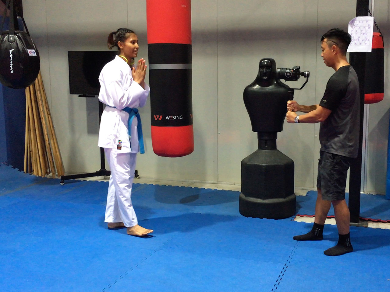 Calm and composed, this warrior princess, Syakilla Salni is a world ranking karate exponent