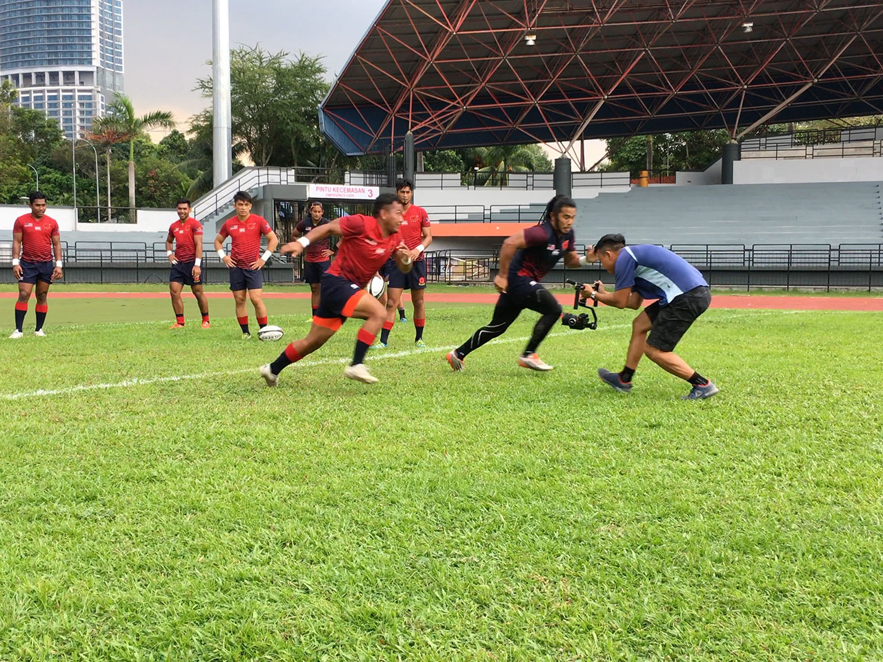 Between a truck and a bus speeding towards you, that's how it feels going head to head with Malaysia's 7S Rugby Team