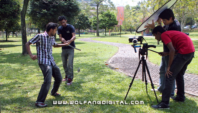 WolFang Digital's Digital Film Making Course students on location for Bollywood Samurai