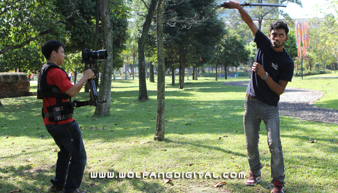 The Glidecam Smooth Shooter is used to produce smooth footage even while running