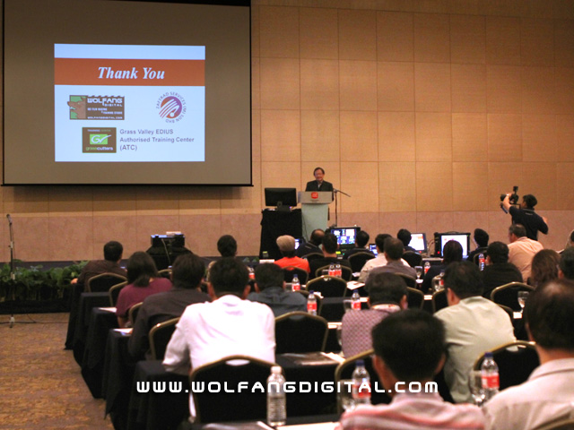 Mr. Benedict Yee makes the historic announcement that WolFang Digital is now Authorised Training Centre for Grass Valley