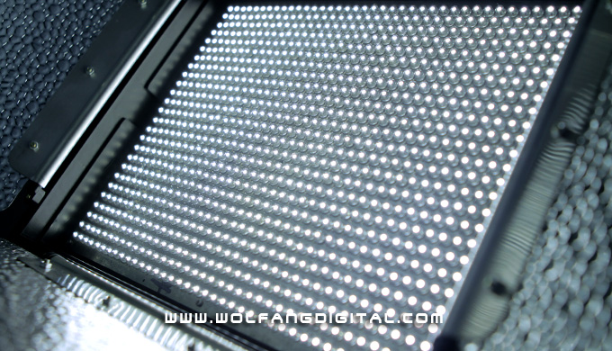 It's all there, all 1,140 LEDs. All the better to flood your scene with pleasant soft fill light