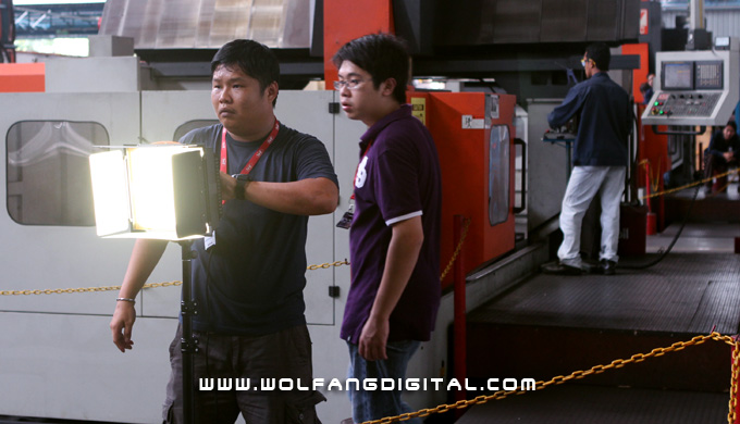 The Benzzo LED panel in action during corporate film making. We give it an overall outstanding performance rating