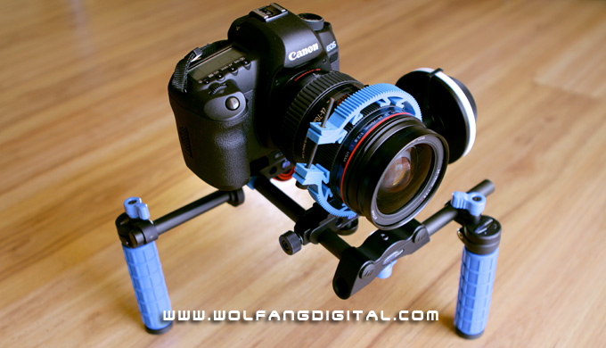 Handheld HDSLR rig: Captain Stubling, named after its designer, DV Rebel and VFX guru: Stu Maschwitz