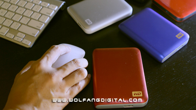Sleek and elegant. The My Passport is just a little bigger than Apple's Magic Mouse, fits into your pocket.