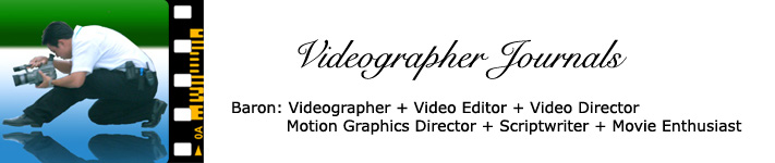 Videographer Journals