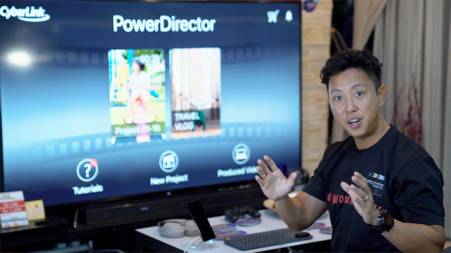Power Director video editing course by Baron Abas, official Cyberlink trainer at WolFang Digital