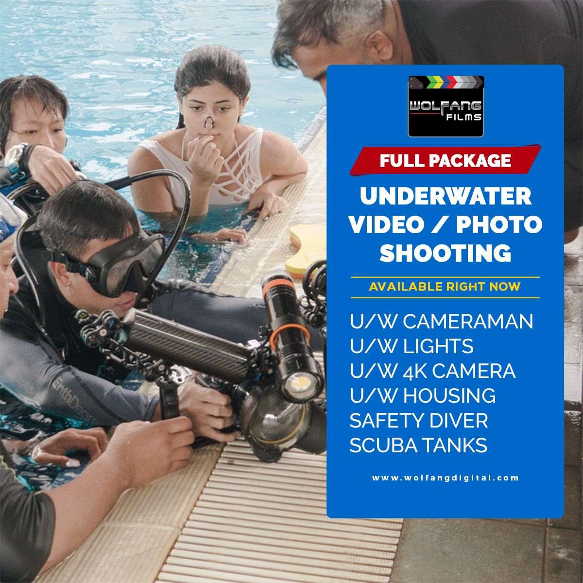 Underwater videography and underwater photography services by WolFang Digital