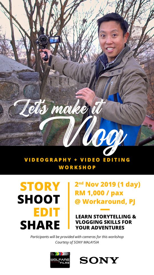 Vlog, vlogging, YouTube videos, video editing workshop by Baron Abas